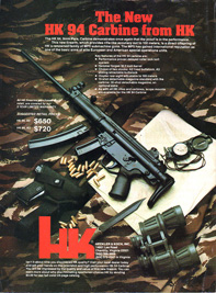 Advertisement for Heckler & Koch carbine