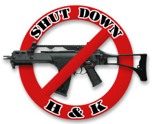 Shut Down H&K logo
