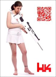 Alex Tsander - QR code artwork - Heckler & Koch