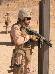 US Marine with H&K submachine gun